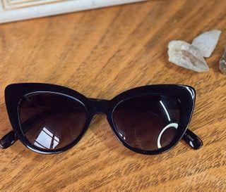 Óculos preto haste animal print
