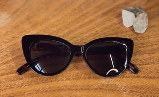 Óculos azul com haste animal print