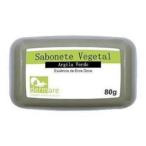 Sabonete Facial De Argila Verde Dermare - 80g