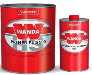 Wanda Primer Pu 5100 Automotivo + Catalisador (900ml)