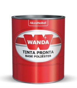 Wanda Tinta Poliester Prata Enseada Metalico Ford (900ml)