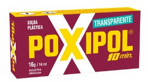 Poxipol Adesivo Epoxi Transparente 10min (16g)