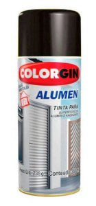 Colorgin Spray Alumen Preto Fosco 773 (350ml)