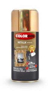 Colorgin Spray Metallik Dourado 557 (190ml)