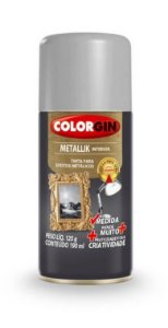 Colorgin Spray Metallik Prata 553 (190ml)