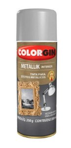 Colorgin Spray Metallik Prata 53 (190ml)