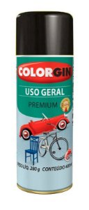 Colorgin Spray Uso Geral Preto Rapido 52001 (400ml)