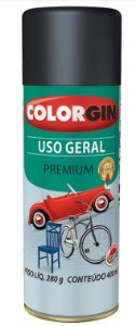 Colorgin Spray Uso Geral Preto Semi Fosco 54021 (400ml)