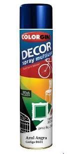 Colorgin Tinta Spray Decor Azul Angra Met (360ml)