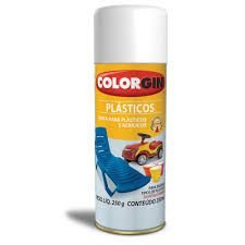 Colorgin Tinta Spray p/ Plasticos Branco (350ml)