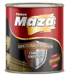 Maza Esmalte Direto Ferrugem Cinza (900ml)