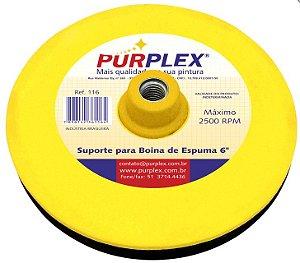 """Purplex Suporte de Disco EVA com Velcro para Boina de Espuma 6"""""""
