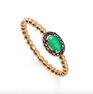 anel de ouro 18K verde
