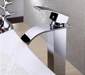 Torneira Cascata Banheiro Bica Baixa Monocomando