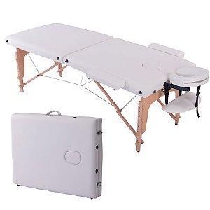 Mesa Maca de Massagem Dobrável Branca Concept