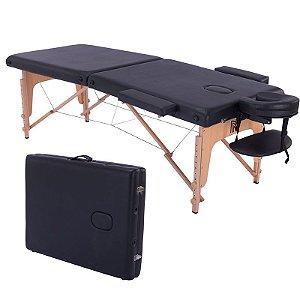 Mesa Maca de Massagem Dobrável Preta Concept