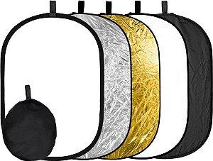 Rebatedor Retangular Oval Fotográfico 5 Em 1 90x120cm