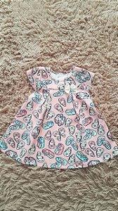 Tm G bebê R$vestido infantil Rosa