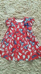 Tm G bebê R$vestido infantil vermelho