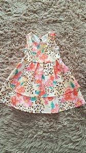 Tm G bebê R$vestido infantil floral