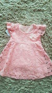 Tm  M bebê  R$vestido infantil Rosa