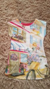Tm 1  _ vestido infantil  Rosa