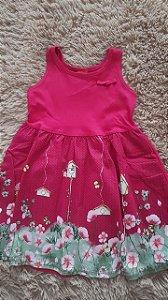 Tm 3 _ vestido  infantil Rosa