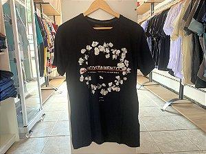 Camiseta da acostamento preta M