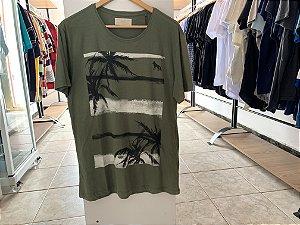 Camiseta da acostamento verde-escuro G