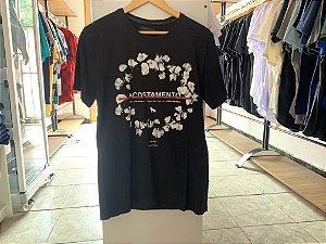 Camiseta masculina acostamento preta M