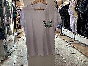 Camiseta masculina acostamento branca M