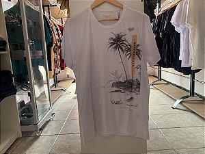 Camiseta masculina acostamento branco M