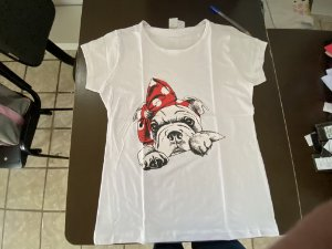 Camiseta branca fem g