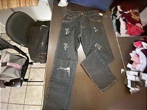 Calça jeans fem preta 38