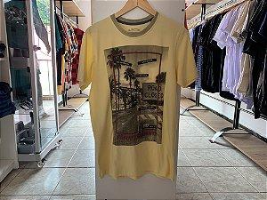 Camiseta masculina amarela M