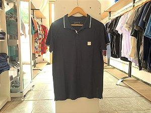 Camiseta masculina acostamento azul escuro M