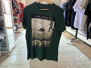 Camiseta masculina verde G