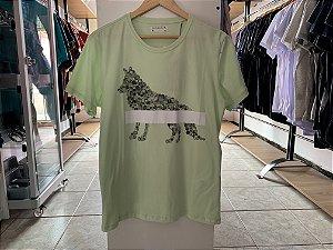 Camiseta masculina acostamento verde M