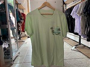 Camiseta masculina acostamento,  Verde G
