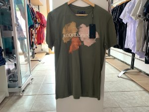 Camiseta masculina acostamento verde G
