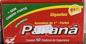 Fósforo Paraná Contem 50 fósforos de segurança