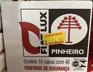 Fósforo Pinheiro Contém 10 caixas com 40