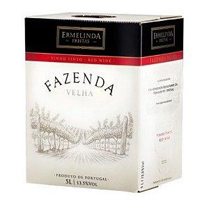 VINHO FAZENDA VELHA BAG BOX 5LT