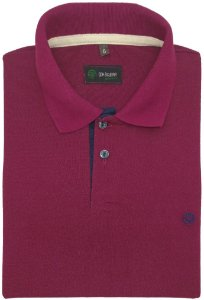 POLO LISA MISTA  BORDO