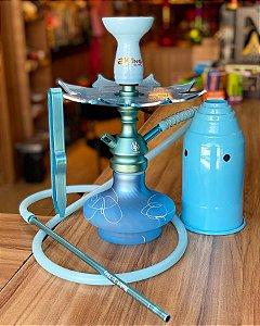 Kit Narguile Completo - Anúbis Azul bebê Fosco