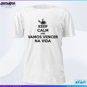 Camiseta - Júnior Groovador - Keep Calm and Vamos Vencer na Vida