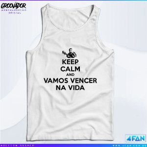 Camiseta Regata - Junior Groovador - Keep Calm and Vamos Vencer na Vida