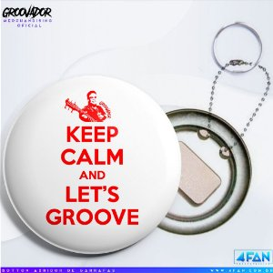 Chaveiro Abridor - Júnior Groovador - Keep Calm and Let's Groove