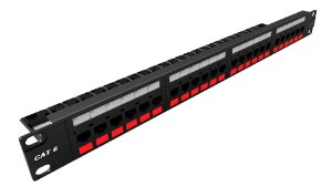 PATCH PANEL MODULAR GIGALAN CAT.6 24 PORTAS T568A/B - (UN)