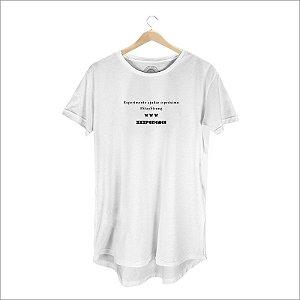 Camiseta XXXPERIENCE Social Long Line- Branca